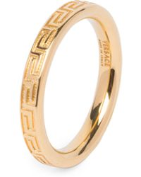 Versace - Greca Thin Ring - Lyst