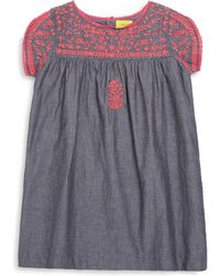 Roberta Roller Rabbit - Little Girl's & Girl's Embroidered Chambray Dress - Lyst