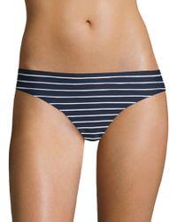 Shoshanna - Stripe Bikini Bottom - Lyst