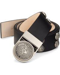 Balmain - Round Studded Leather Belt - Lyst