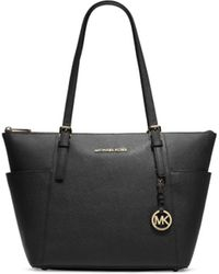 ab7a391033fa MICHAEL Michael Kors Large Jet Set Chain Tote in Black - Lyst