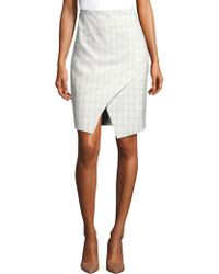 Elie Tahari - Manders Wrap Pencil Skirt - Lyst