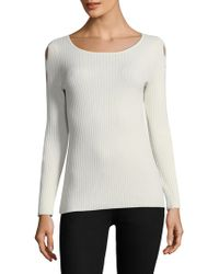Ramy Brook - Kimila Cashmere Blend Cross Sleeve Sweater - Lyst