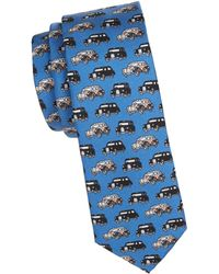 Burberry - Stanfield Cars Silk Tie - Lyst