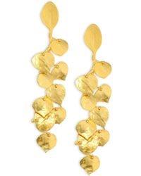 Kenneth Jay Lane - Satin Leaf Drop Earrings - Lyst