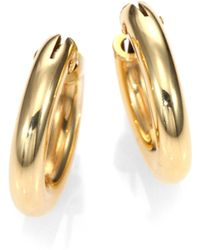 Roberto Coin - 18k Yellow Gold Petite Oval Hoop Earrings/0.75 - Lyst