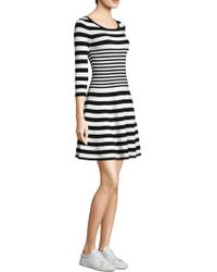 MILLY | Striped Ottoman Fit -&- Flare Dress | Lyst