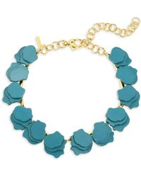 Lele Sadoughi - Concrete Jungle Wisteria Petal Necklace - Lyst