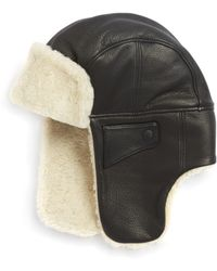 d4dc392612981 Lyst - UGG Sheepskin Stoneman Trapper Hat in Black for Men