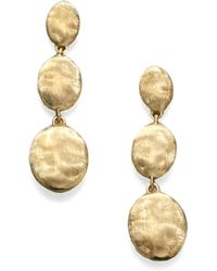 Marco Bicego - Siviglia 18k Yellow Gold Triple-drop Earrings - Lyst