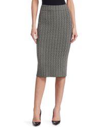 Akris Punto - Two-tone Knit Pencil Skirt - Lyst