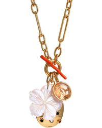 Lizzie Fortunato Windsor 18k Goldplated & Multi-stone Charm Necklace - Metallic