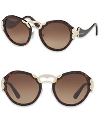 Prada - All Designer Products - 54mm Metal-detail Sunglasses - Lyst