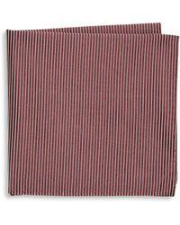 Armani - Dark Hued Silk Pocket Square - Lyst