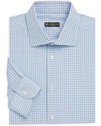 Corneliani - Contemporary-fit Gingham Dress Shirt - Lyst