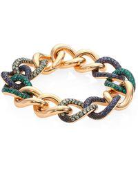Pomellato - Tango Garnet, Demantoid, Emerald & 18k Rose Gold Bracelet - Lyst