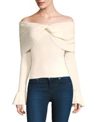 Ella Moss - Jasinda Off-the-shoulder Ribbed Sweater - Lyst
