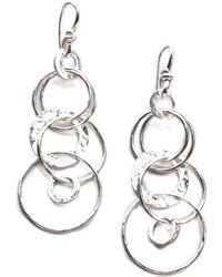 Ippolita - Glamazon Sterling Silver Jet Set Drop Earrings - Lyst