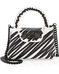 6e7d24d630c Moschino - Women's Lettering Brushstroke Top Handle Bag - Black Multi - Lyst
