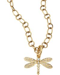 Temple St. Clair - Tree Of Life Diamond & 18k Yellow Gold Dragonfly Enhancer - Lyst