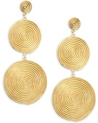 Elizabeth and James | The Sullivan Collection 24k Gold Plated Earrings | Lyst