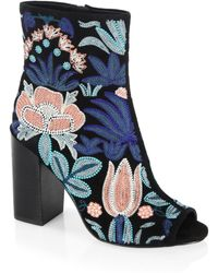 Rebecca Minkoff - Bridget Embroidered Leather Boots - Lyst