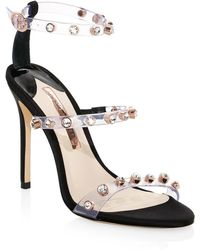 ec1baec7930 Sophia Webster - Rosalind Gem Leather Slingback Sandals - Lyst