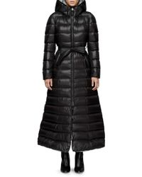 Mackage - Long Quilted Tie-waist A-line Down Coat - Lyst