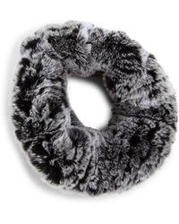 Surell - Rabbit Fur Knit Headband - Lyst