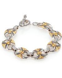 Konstantino - Hebe 18k Yellow Gold & Sterling Silver Bracelet - Lyst