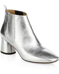 Marc Jacobs - Rocket Metallic Leather Chelsea Boots - Lyst