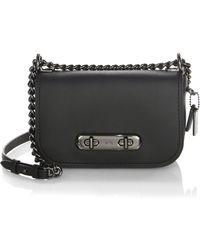 COACH - Swagger Leather Crossbody Bag - Lyst