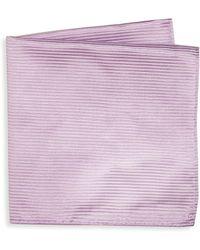 Armani - Thin Striped Silk Pocket Square - Lyst