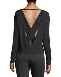 Alo Yoga - Uplift Cross-back Sweatshirt - Lyst