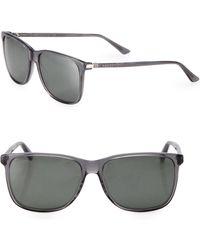 Gucci - 57mm Square Sunglasses - Lyst