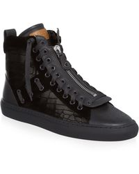 Bally | Hekem Embossed Leather Ankle Boots | Lyst