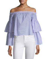 BCBGMAXAZRIA - Striped Off-the-shoulder Top - Lyst