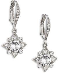 Oscar de la Renta | Delicate Star Crystal Drop Earrings | Lyst