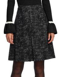 Akris Punto - Tweed Pleated Flared Skirt - Lyst