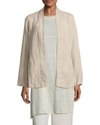 Eileen Fisher - Undyed Linen Kimono Jacket - Lyst