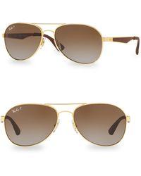 Ray-Ban - Logo Aviator Sunglasses - Lyst