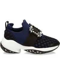 Roger Vivier - Viv Run Strass Buckle Sneakers - Lyst