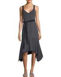 10 Crosby Derek Lam - Belted Stripe Dress - Lyst