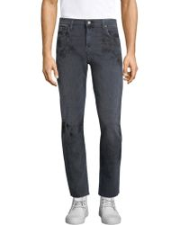 J Brand - Mick Slim Distressed Jeans - Lyst