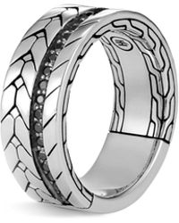 John Hardy - Modern Chain Ring With Black Spinel - Lyst