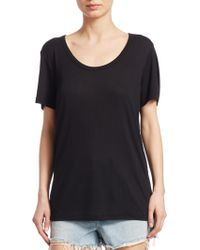 T By Alexander Wang - Draped Jersey Tee - Lyst