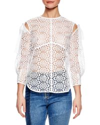 Sandro - Ernesta Lace Top - Lyst