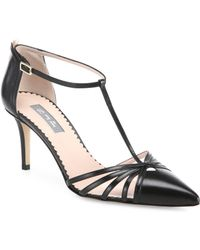 SJP by Sarah Jessica Parker - Carrie T-strap Leather Court Shoes - Lyst