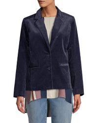 Eileen Fisher - Notch Collar Shaped Jacket - Lyst