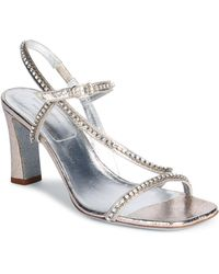 Dries Van Noten - Strappy Crystal Leather Sandals - Lyst